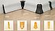 Плинтус пластиковый ТЕКО Стандарт 0004 Орех темный  (с кабель каналом, широкий по полу, мягкие края), фото 3