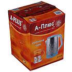 Електрочайник дисковий нержавійка A-PLUS 2.0 л чайник електричний, фото 7