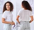 Легкая женская однотонная базовая футболка темно-бежевая, фото 3
