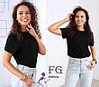 Легкая женская однотонная базовая футболка темно-бежевая, фото 4