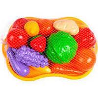 Набір фруктів і овочів, піднос, в сітці 30*21см, Технок