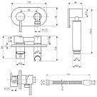Набор для гигиенического душа со смесителем Q-tap Inspai-Varius CRM V00440501, фото 2