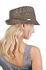 Шляпа трилби из натуральной соломы зеленая, фото 2