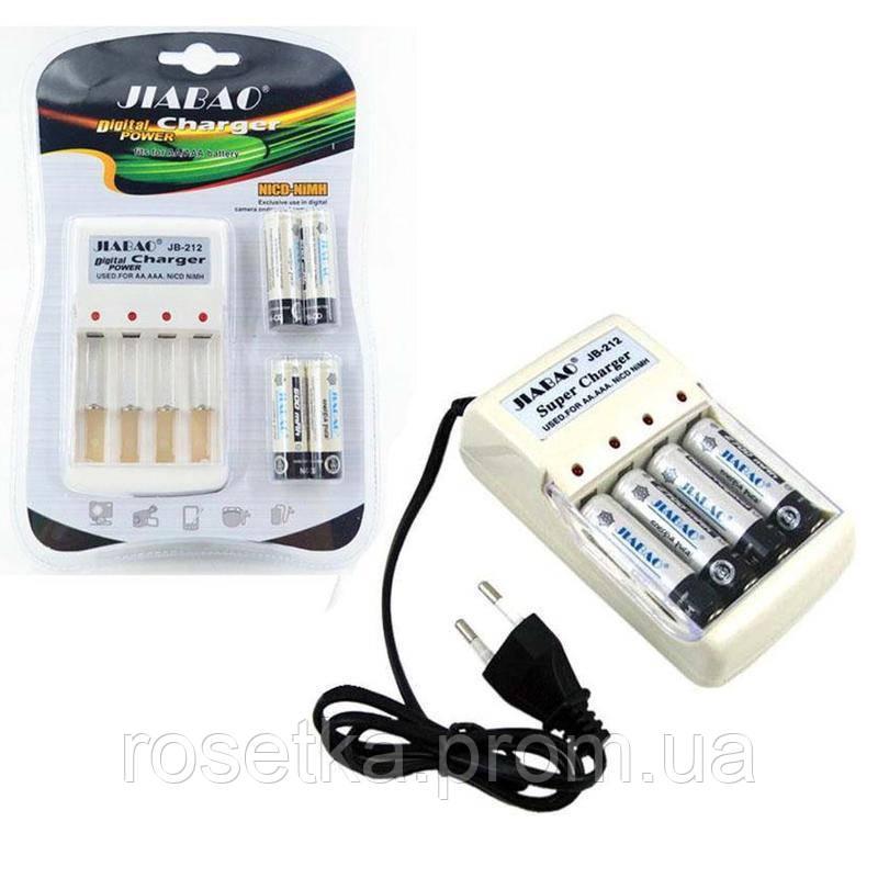 Зарядное устройство для аккумуляторных батареек - Jiabao Digital Power Charger JB-212, аккумуляторные батареи