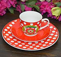 "Набор посуды для завтрака ""Love"", 3 предмета (тарелка 19 см, чашка 180 мл, блюдце 14 см.)"