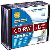 CD-RW ESPERANZA X12 - SLIM CASE 10 ШТ.