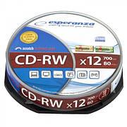 CD-RW ESPERANZA X12 - CAKE BOX 10 ШТ.