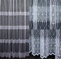 Гардина фатин с вышивкой. Цвет белый Код 539т