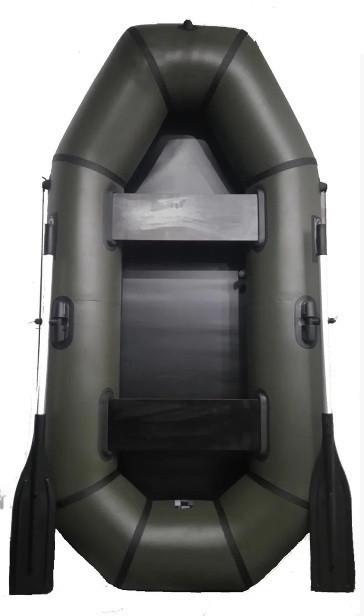 Лодка пвх надувная двухместная Grif boat GL-250LS поворотные уключины сланевый настил