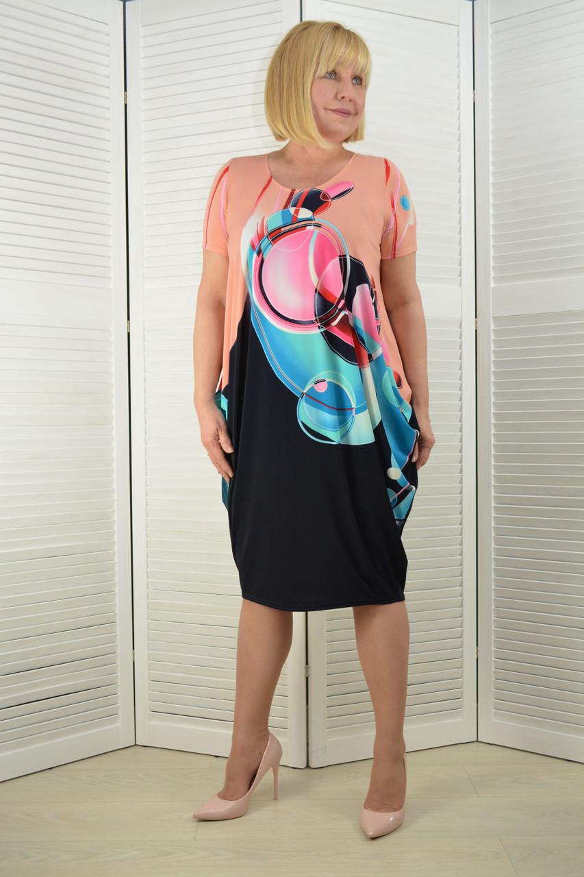 Платье качели трикотаж (Л59)