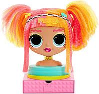Манекен голова для причесок оригинал Лол ОМГ Леди Неон LOL Surprise OMG Neonlicious Head 565963