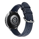 Ремешок для Amazfit BIP   Bip Lite   GTS   Gtr 42mm кожаный 20мм размер L Темно-Синий BeWatch (1220189), фото 3
