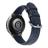 Ремешок для Samsung Active   Active 2   Galaxy watch 42mm кожаный 20мм размер S Темно-Синий BeWatch (1210189), фото 2