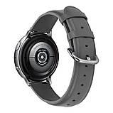 Ремешок для Samsung Active | Active 2 | Galaxy watch 42mm кожаный 20мм размер L Серый BeWatch (1220104), фото 2