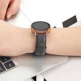 Ремешок для Samsung Active | Active 2 | Galaxy watch 42mm кожаный 20мм размер L Серый BeWatch (1220104), фото 4