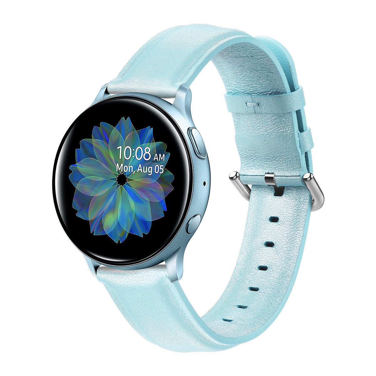 Ремешок для Samsung Active | Active 2 | Galaxy watch 42mm кожаный 20мм размер L Мятный BeWatch (1220197)