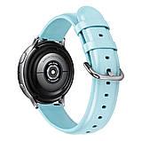 Ремешок для Samsung Active | Active 2 | Galaxy watch 42mm кожаный 20мм размер L Мятный BeWatch (1220197), фото 2