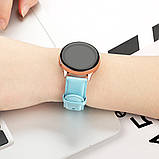 Ремешок для Samsung Active | Active 2 | Galaxy watch 42mm кожаный 20мм размер L Мятный BeWatch (1220197), фото 4