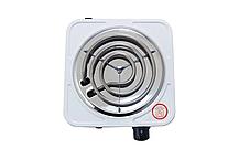 Спиральная электроплита на одну конфорку с регулятором мощности белого цвета WimpeX WX-100B-HP, фото 3