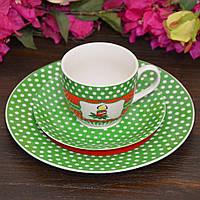 "Набор посуды для завтрака ""Candle"", 3 предмета (тарелка 19 см, чашка 180 мл, блюдце 14 см.)"