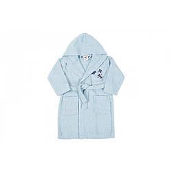 Дитячий халат Karaca Home - Airship Mavi 2020-2 блакитний