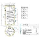 Водонагреватель косвенного нагрева Tesy 500 л EV15/7S250075, фото 2