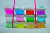 Слайм, лизун, набор разноцветный с трубочками 3.7 см, игрушка детская антистресс, набор 12 шт