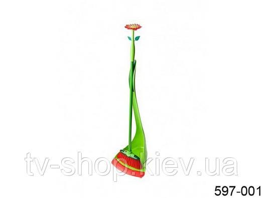 Щетка для пола+совок FLOWER POWER