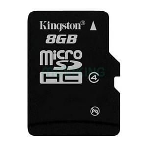 Карта памяти microSDHC 8Gb Kingston (Class 4), флешка для телефона.