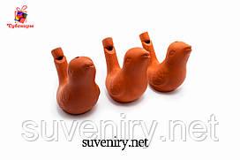 Детская глиняная свистулька пташечка