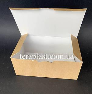 """Упаковка для наггетсов, куриных крыльев (Фудбокс крафт) """"Макси"""" 175х105х70 мм, фото 2"""