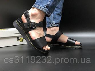 Женские кожаные сандали Dr. Martens (черные)