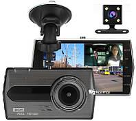 Автомобильный видеорегистратор UKC CSZ-Z27 WDR Full HD 1080P 2 камеры Black (4417)