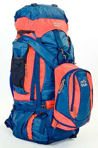 Туристичний рюкзак-трансформер  COLOR LIFE 159 синій-помаранчевий  V-95 літрів