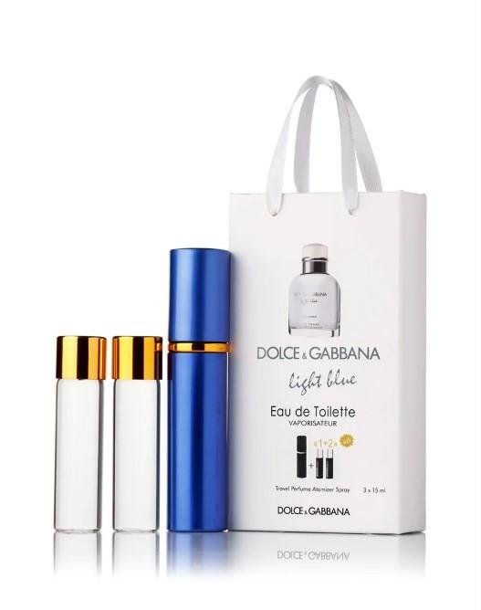 Мужской мини парфюм Dolce & Gabbana Light Blue, 3*15 мл