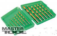 MasterTool Набір свердел для металу, 13 шт HSS титан(1,5 - 6,5 мм) у пластиковій коробці, Арт.: 11-1305