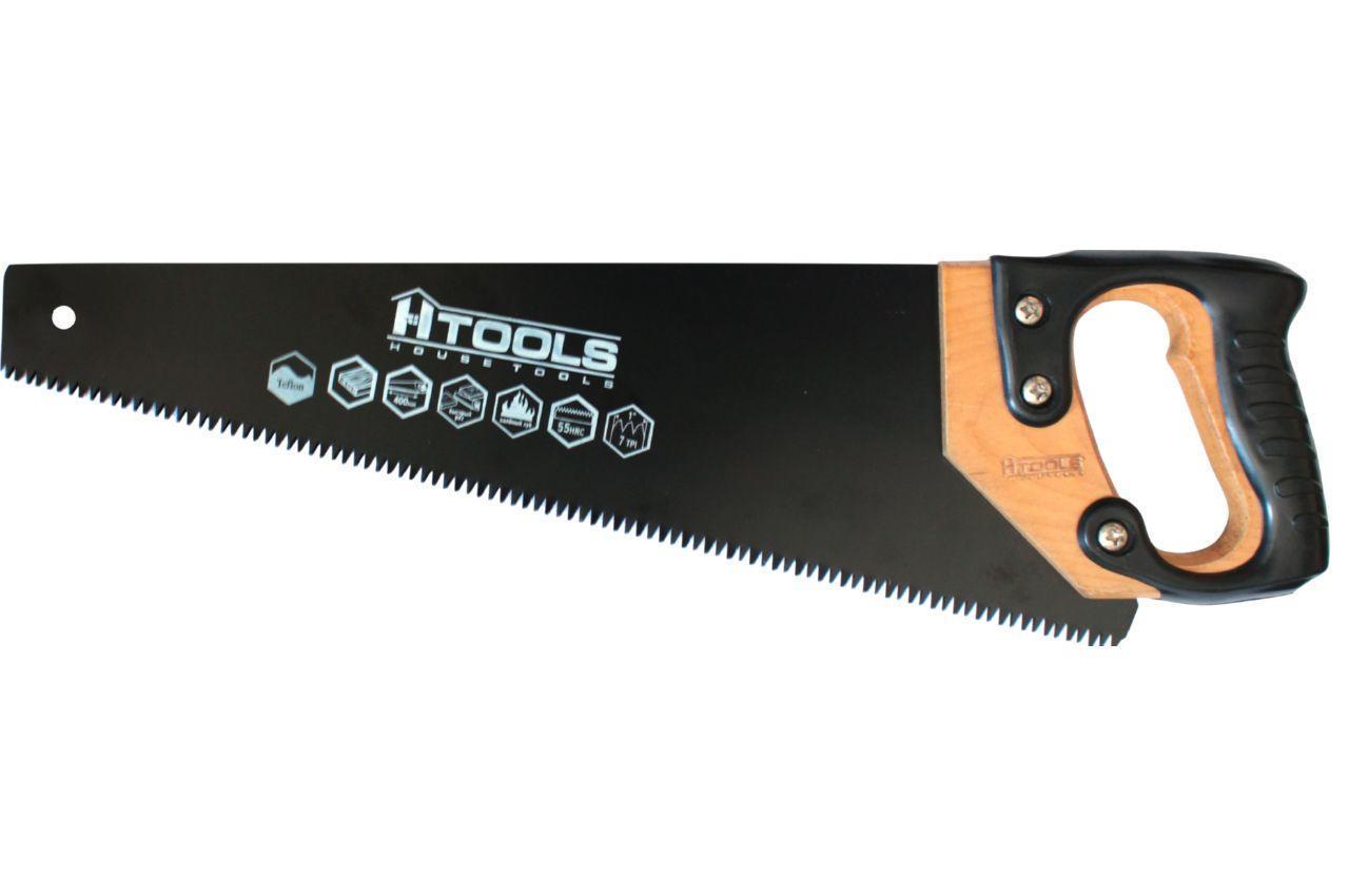 """Ножовка по дереву Housetools - 400 мм x 7T x 1"""" x 3D, тефлон"""