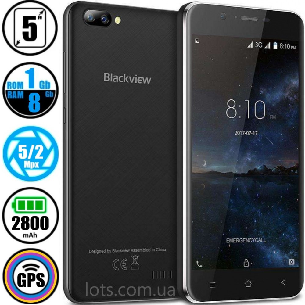 Смартфон Blackview A7 Black