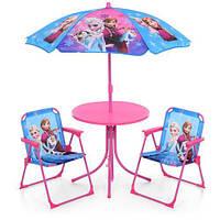 Столик диам. 50см, стульчик 2шт, зонтик (рег.высота), FR, в кор. 73*51*11см (1шт)