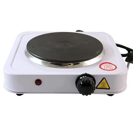 Дисковая  электроплита на одну конфорку с регулятором мощности белого цвета WimpeX WX-100A-HP, фото 2
