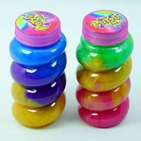 """Слайм, лизун, набор разноцветный """"Радуга"""" 10х5см, игрушка детская антистресс, набор 12 шт"""