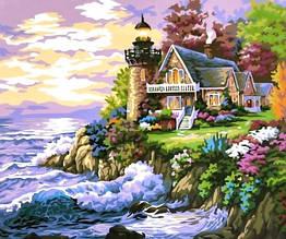 Картина за номерами Будиночок біля маяка