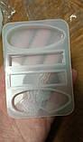 Молд силиконовый Ступеньки Бижутерный 4 формы 10х7х1 см форма для заливки, фото 5