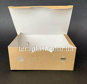 "Упаковка для наггетсов, куриных крыльев (Фудбокс крафт) ""Миди"" 145х90х45 мм, фото 2"