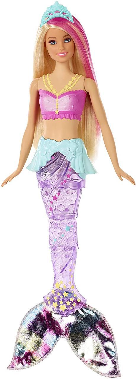 Уценка! Повреждена упаковка.Кукла Barbie-русалка Подводное Сияние Dreamtopia Sparkle Lights Mermaid Blonde