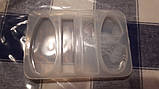 Молд силиконовый Ступеньки Бижутерный 4 формы 10х7х1 см форма для заливки, фото 7