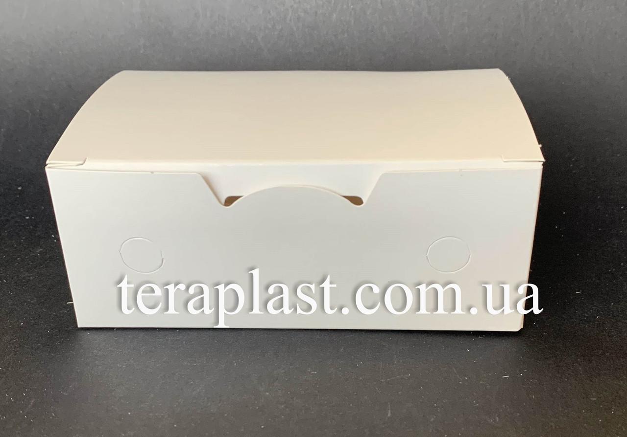 """Упаковка для наггетсов, куриных крыльев (Фудбокс белый) """"Мини"""" 115х75х45 мм"""