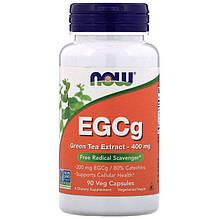 """Экстракт зеленого чая NOW Foods """"EGCg"""" 400 мг (90 капсул)"""