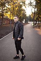 Мужская теплая черная куртка  (Весна - Осень)