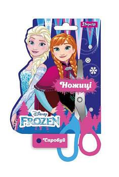 Детские канцелярские ножницы для школы 1Вересня 13см Frozen Разноцветные (480396)